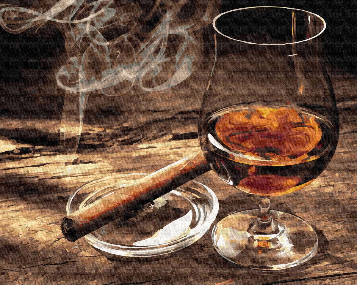 Картина по номерам Brushme Дым сигары