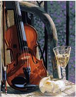 Картина по номерам Brushme Скрипка с вином