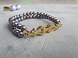 Браслет многорядный Жемчуг и цепочки, фото 4