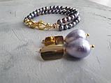 Браслет многорядный Жемчуг и цепочки, фото 2