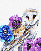 Картина по номерам Brushme Совушка в цветах