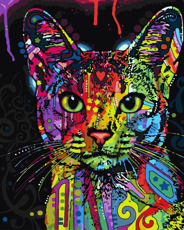 Картина по номерам Brushme Абиссинская кошка