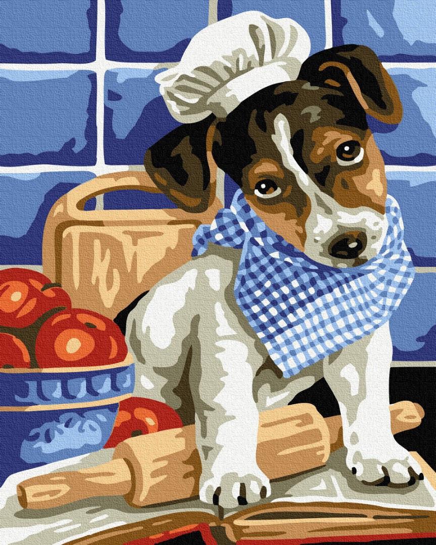 Картина по номерам Brushme Собачка поварёнок