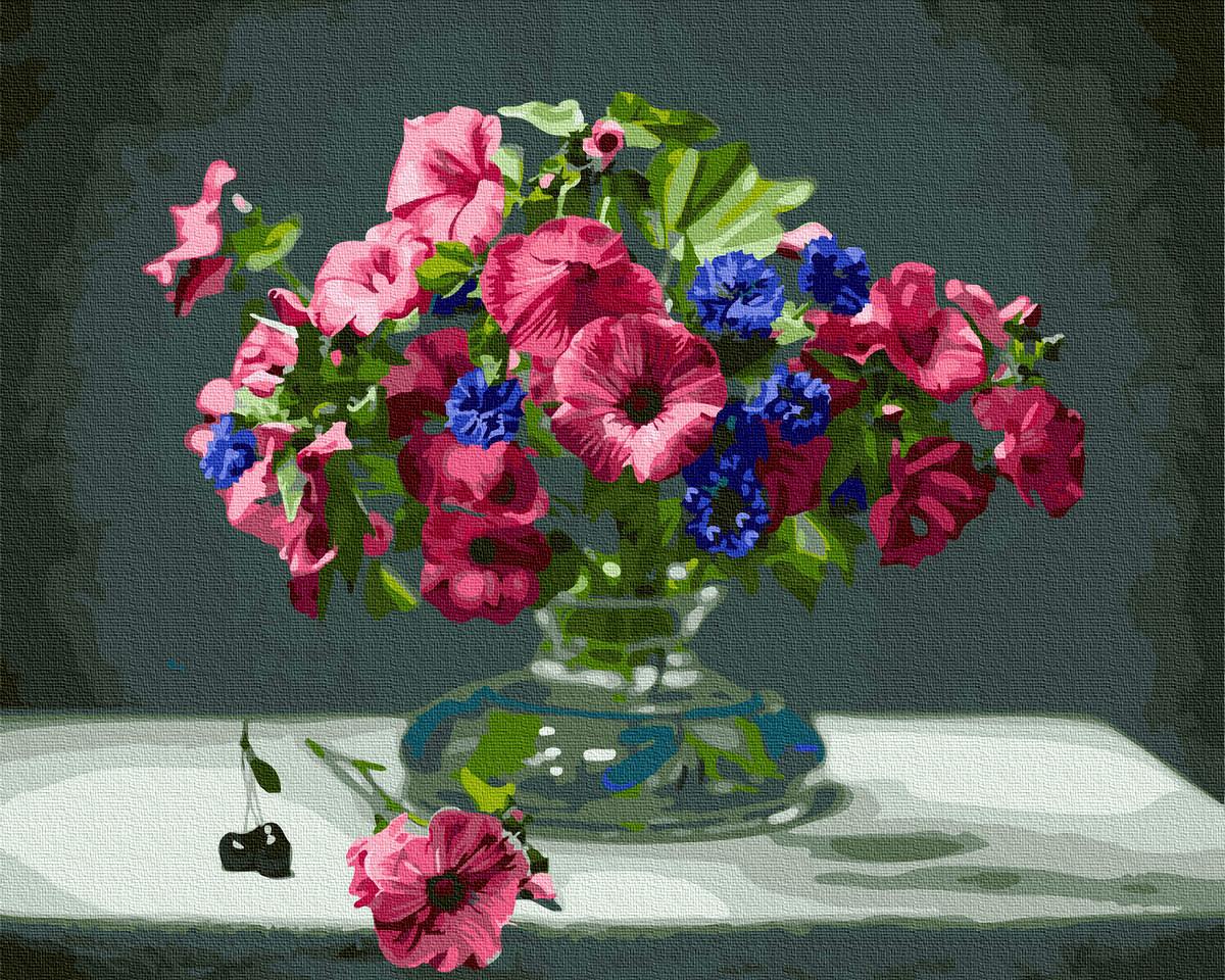 Картина по номерам Brushme Букет розовых петуний