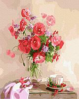 Картина по номерам Brushme Букет маков на столе