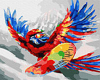 Картина по номерам Brushme Яркий попугай