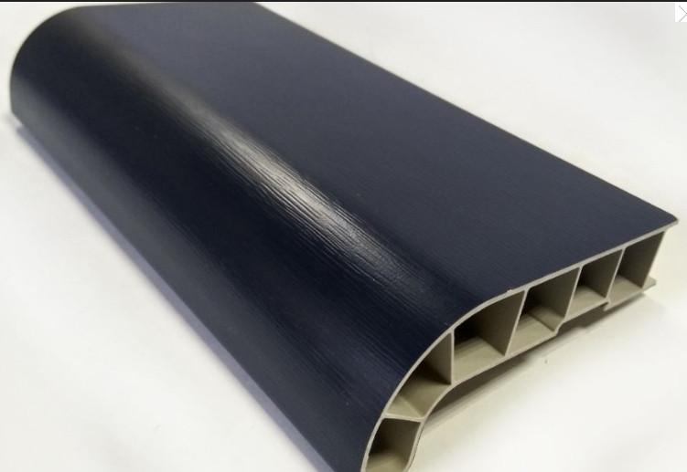 Заглушка соединительная к подоконнику SAUBERG (Сауберг) 120/180 градусов 600 мм Антрацит матовый