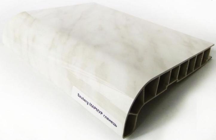 Заглушка торцевая к подоконнику SAUBERG (Сауберг) 600 мм двухсторонняя Мрамор глянцевый