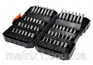 Набор бит, адаптер для бит, сталь CrV, 56 предм., в пласт. боксе// STHOR