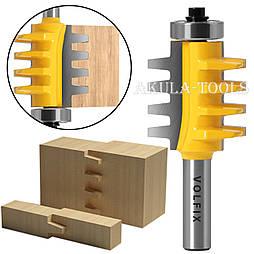 VOLFIX d12 фреза для зрощування деревини (мікрошип) (марошип) по довжині і ширині по дереву