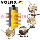 VOLFIX d12 фреза для зрощування деревини (мікрошип) (марошип) по довжині і ширині по дереву, фото 3
