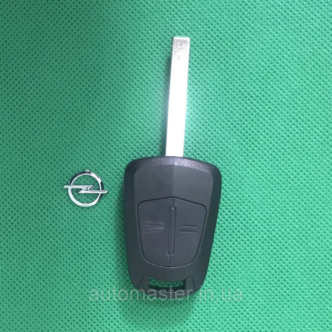 Корпус   авто ключа OPEL Astra Н, Zafira, Vectra (Опель Астра Н, Зафира, Вектра) 2кнопки,лезвие HU100