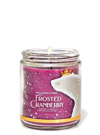 Свеча ароматизированная Bath and Body Works Frosted Cranberry Scented Candle 198 г, фото 2