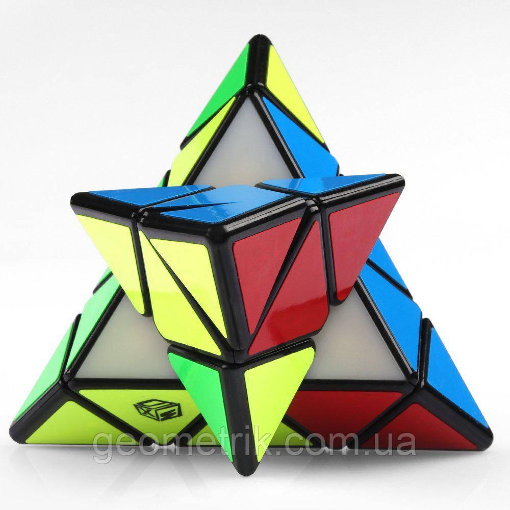 Пірамідка QiYi X-man Magnetic Pyraminx BELL (чорна) (Магнітна головоломка)