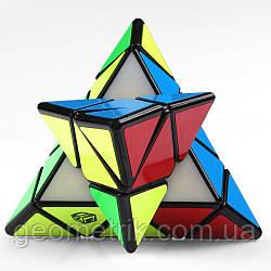Пирамидка QiYi X-man Magnetic Pyraminx BELL (чёрная) (Магнитная головоломка)