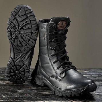 Берці зимові / військова тактична взуття ДЕЛЬТА (гладка шкіра)