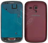 Корпус для Samsung Galaxy S3 mini i8190 - оригинальный (бордовый)