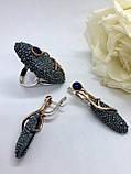 Комплект серебряных украшений Лавина от Ирида-В, фото 2