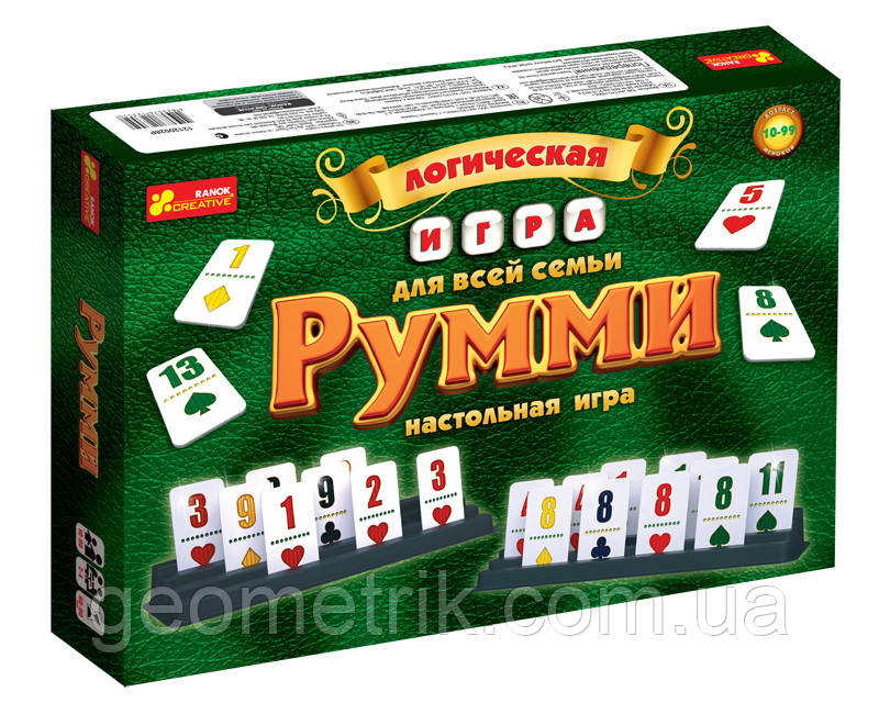 Логическая настольная игра «Румми» 12120028Р 1982