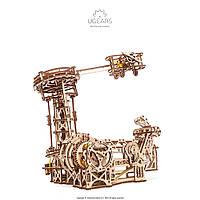 UGEARS Механический 3D пазл Авиатор (726 деталей) (деревянный конструктор, развивающий конструктор)