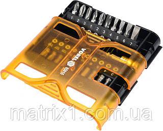 Набор бит, адаптер для бит, сталь CrV, 21 предм., в обойме// STHOR