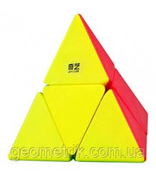 Пирамидка Рубика 2х2 piraminx (цветная) QiYi (головоломка для детей и взрослых)