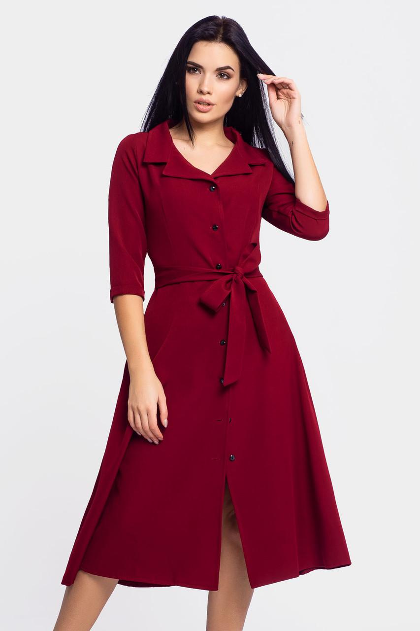 Классическое женское платье Kair, бордовый