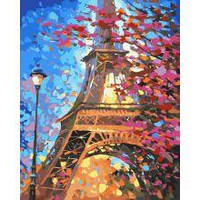 Картина по номерам. Краски Парижа 40х50см арт. КНО2129 (Набор для творчества, рисование по