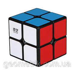 Кубик Рубіка 2х2 QiYi QiDi (Чорний)(головоломка, спидкубинг, швидкісний кубик)