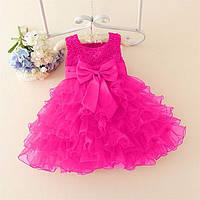Святкове нарядне плаття для дівчаток-немовлят, РОЗМІР 90, КОЛІР МАЛИНОВИЙ