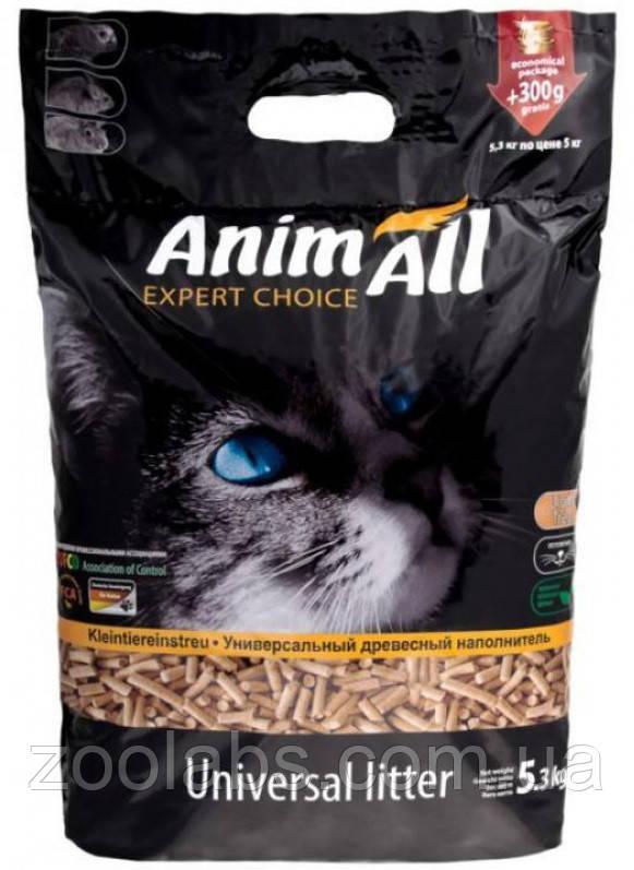 Наполнитель для туалета Энимолл | AnimAll наполнитель древесный 5 кг