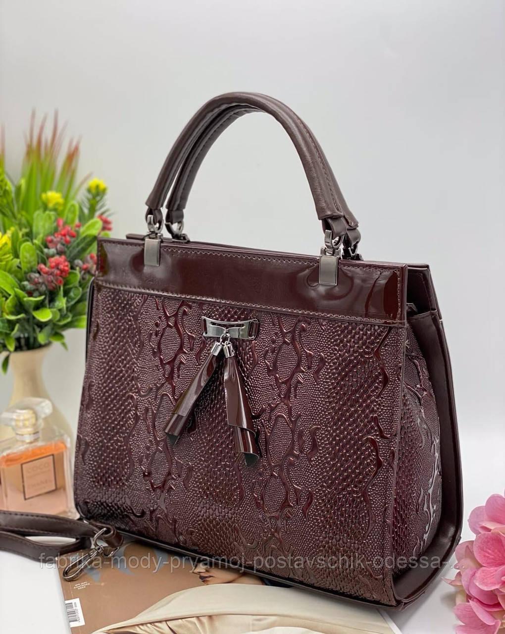 Женская Каркасная сумка Модель - 06-16 Фото реал Материал - PU (экокожа)