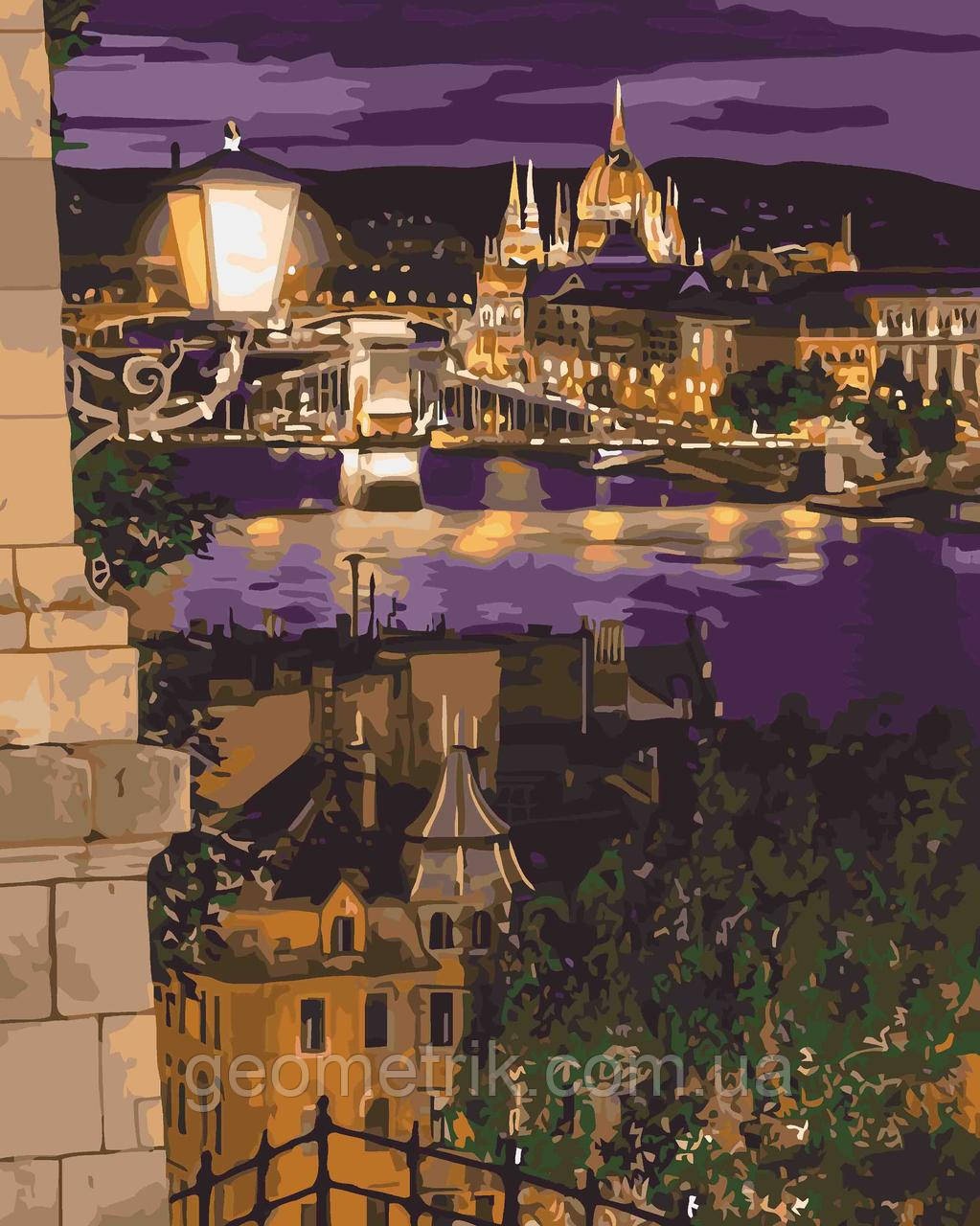Картина по номерам.  Магические краски Будапешта 40х50см арт. КНО3534