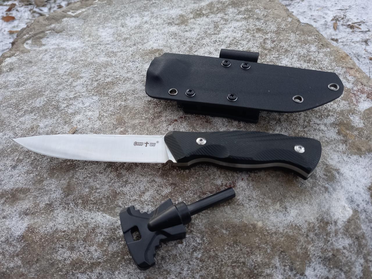 Нож нескладной тактический  с огнивом  С -113