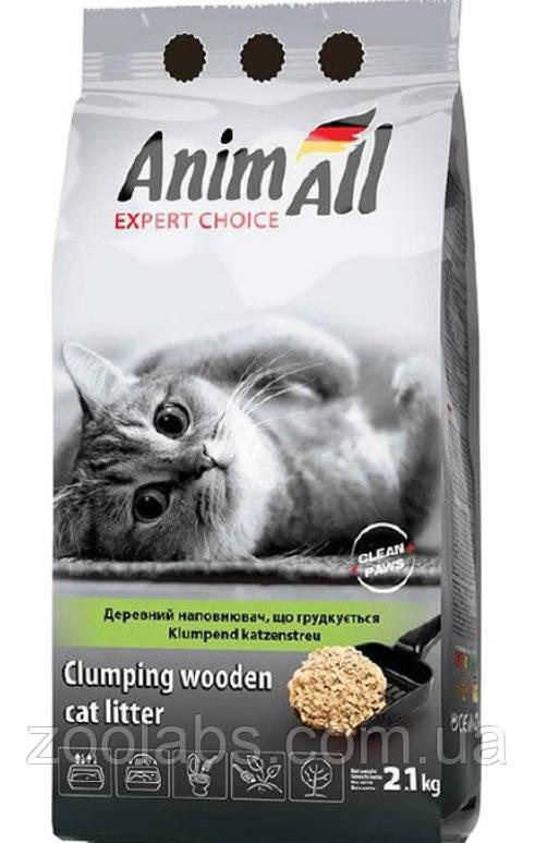 Наполнитель для туалета Энимолл | AnimAll наполнитель древесный комкующийся 2,1 кг