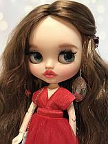 Лялька Блайз Новорічна/ Blythe, кастом, набір одягу+підставка