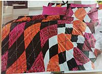 Полуторный комплект постельного белья страйп-сатин 160х220 (ТМ First Choice), Турция