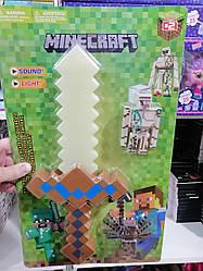 """Игровой набор с оружием и фигурками майнкрафт """"Minecraft"""", белый меч"""