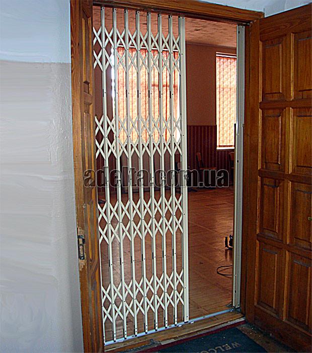 Защитные раздвижные решетки на двери Шир.1015*Выс2400мм для школы