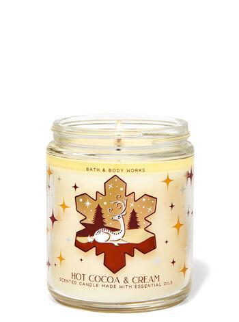 Свеча ароматизированная Bath and Body Works Hot Cocoa and Cream Scented Candle 198 г