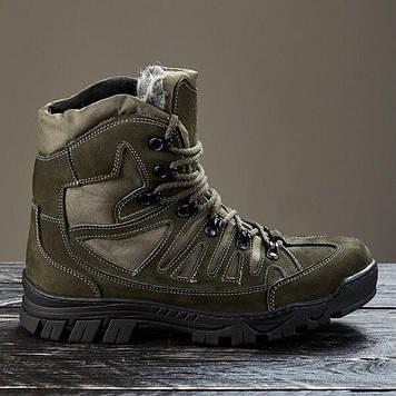 Зимние тактические ботинки / военная, армейские обувь КАСКАД (olive)