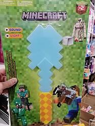 """Игровой набор с оружием и фигурками майнкрафт """"Minecraft"""", лопата"""