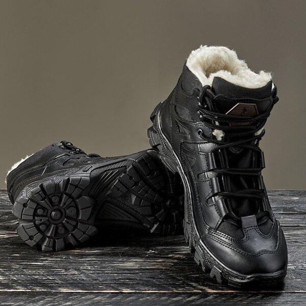 Тактическая зимняя обувь / военные, армейские ботинки Tactic HARD Gen.II (black)