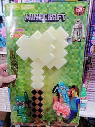 """Игровой набор с оружием и фигурками майнкрафт """"Minecraft"""" топор"""