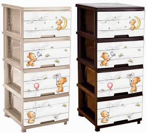 Комод Алеана, на 4 ящика, с декором «Медвежата», 123094/4/1, фото 2