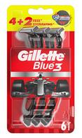 100% Ориинал! Польша. Одноразовые бритвы Gillette Blue 3, мужские, 4+2 шт, Оригинал, Польша, мужские