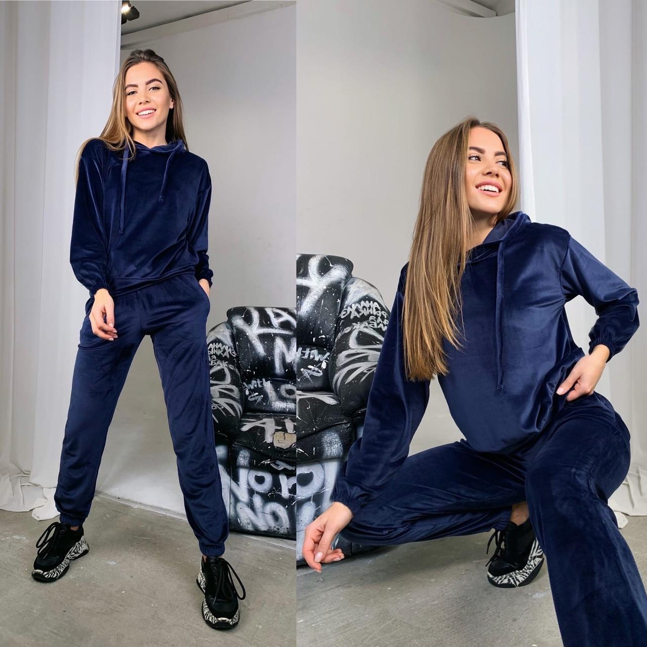 Велюровый женский спортивный костюм