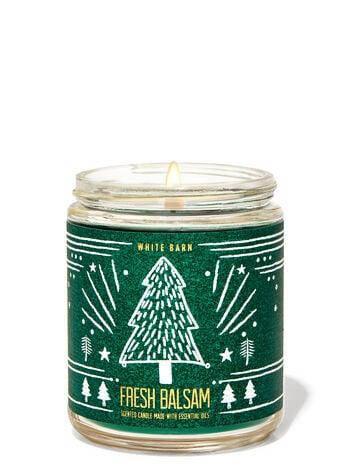 Свеча ароматизированная Bath and Body Works Fresh Balsam Scented Candle 198 г, фото 2