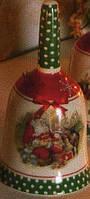Колокольчик с новогодним рисунком Дед мороз