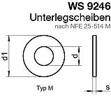 """WS 9246 (NFE 25-514 M) : нержавіюча шайба широка """"французька"""" тип M, фото 2"""